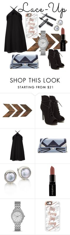 """Untitled #130"" by evacl ❤ liked on Polyvore featuring Miss Selfridge, Karl Lagerfeld, Smashbox, FOSSIL and Casetify"