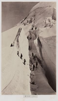 """Postcards from the dawn of photography - Auguste Rosalie Bisson """"Le Crevasse"""" 1861"""