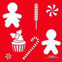 SD Stencil Dulce Navidad Set -Colección SD Stencils de Navidad