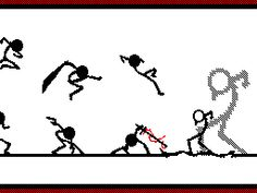 Friday Dodge Ball For Real Though! Stick Man Fight, Stick Figure Fighting, Stickman Battle, Stickman Animation, Stick Figure Animation, Fighting Gif, Animation Reference, Art Graphique, Stick Figures