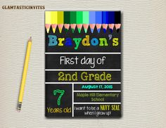 This is the prefect sign to commemorate your Childs First day of school!!  Can…
