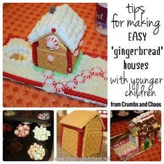 Faux Gingerbread Houses