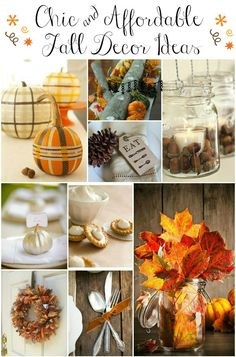 Just like the wedding candles, use Fall objects like small pumkins, gords, pine cones and Fall color leaves inside the inverted wine glasses to create beautiful fall decor or centerpieces.