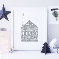 Personalised Home Print by Allihopa, the perfect gift for Explore more unique gifts in our curated marketplace. All Gifts, Home Gifts, Unique Gifts, Gift Vouchers, Anniversary Gifts, House Warming, In The Heights, Home And Family, Colours