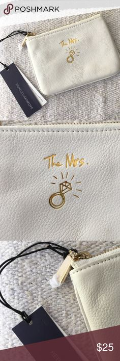 Rebecca Minkoff White Leather Bridal Change Purse Rebecca Minkoff White Leather Bridal Mini Change Purse. BRAND NEW WITH TAGS. No imperfections. Rebecca Minkoff Bags Wallets