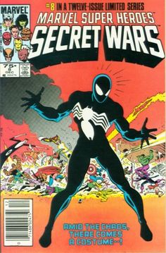 Marvel Super Heroes Secret Wars #8 - 1st Spider-Man Black Costume. Selling in our Oct 23rd Fall Comic Auction. https://moundcityauctions.hibid.com/auctioneer/auctions/current/