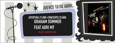 Concierto Graham Summer + Feat Adri Mt en Pontevedra. Ocio en Galicia