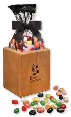 A welcome addition to anyone's desk… our pencil cups come filled with three-quarters of a pound of Jelly Belly® Gourmet Jelly Beans!  Crafted from American beech wood with a hand-rubbed oil finish, you can be assured that these pencil cups will be a lasting & useful reminder of your thoughtfulness!  Food gifts make excellent holiday gifts!