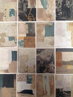 Alm-Pons, Collage of old papers