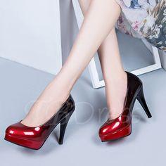 Tbdress.com offers high quality Stiletto Heel Gradient Slip-On Cowheels Women's Dress Shoes Pumps unit price of $ 25.99.