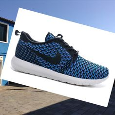 meet 75e1f 6c3ec Nike Roshe Run Flyknit Blu Scarpe Donna,Quality Sneakers are worthy for you  own it