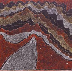 Julie Nangala Robertson - Ngapa Jukurrpa (Water Dreaming) - Pirlinyarnu - 152 x 152 cm http://www.aboriginalsignature.com/art-aborigene-yuendumu/julie-nangala-robertson-ngapa-jukurrpa-water-dreaming-pirlinyarnu-152-x-152-cm