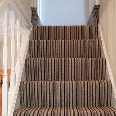 Striped stairs from another angle, many thanks to Steve the fitter from Capel Carpets Watford