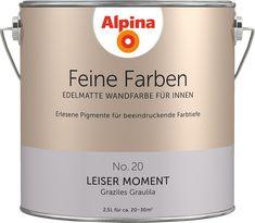 Premium-Wandfarbe. Violett, grau-lila: Alpina Feine Farben LEISER MOMENT