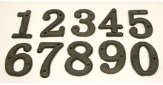 #tosimplyshop Solid Cast Iron Numbers Set of 0 through 9 #gifts #homedecor #gardendecor #decor #home #garden #shopping