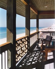 I want a large sea view terrace