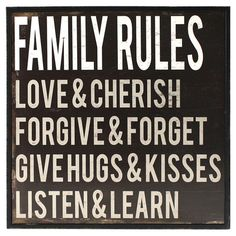 "Family Rules Wall Art:  one of the better ""family rules"" I've seen"