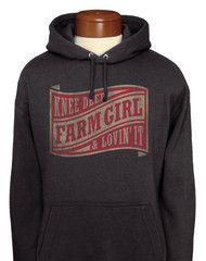 Farm Girl Wave Label Adult Pull-Over Hoodie Country Shirts, Country Outfits, Pretty Outfits, Cute Outfits, Cowgirl Style, Cowgirl Outfits, Fasion, Fashion Outfits, Farm Clothes