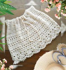 Crochet Skirts, Crochet Poncho, Crochet Clothes, Knit Crochet, Crochet Toddler, Crochet For Kids, Crochet Bikini Pattern, Crewel Embroidery, Handmade Clothes