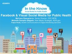 This is the second of six interactive webcasts in the series, In the Know: Social Media for Public Health. Each webcast focuses on a different social media cha… Social Media Training, Social Media Apps, Health Communication, Social Media Measurement, Health Resources, Social Change, Health And Safety, Public Health, How To Know