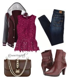 """#54"" by musicianfaith on Polyvore featuring Oscar de la Renta, Walking Cradles, American Eagle Outfitters and Valentino"