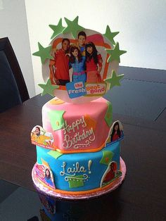 Fresh Beat Band birthday cake from Laila's 4th birthday