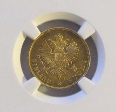 1913 S Finland 10 Markkaa Gold Coin; NGC MS66; KM # 8.2