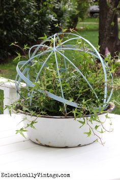 Make a DIY Ivy Topiary with an orb from HomeGoods! eclecticallyvintage.com #homegoodshappy #happybydesign #sponsored
