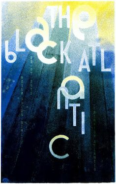 Official screenprinted gigposter for The Black Atlantic – Berlin, Roter Salon, 25th july 2012.