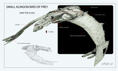 Here is a concept for a small Bird of Prey. I was going to redo it in Photoshop, but I kind of liked the messy grungy look of the pencil sketch, so I ke. Klingon Bird of Prey 2 - Mar'tok Class Star Trek Klingon, Star Trek Starships, Star Trek Vi, Star Trek Ships, Idioma Klingon, Starfleet Ships, Alien Ship, Spaceship Concept, Star Trek Universe