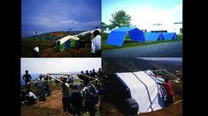 Paper Emergency Shelter for UNHCR, Rwanda, 1999.