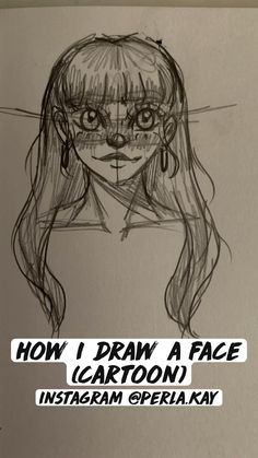 How I draw a face (cartoon)