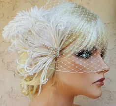 Check out this item in my Etsy shop https://www.etsy.com/listing/475845217/accessories-bridal-fascinator-and-french