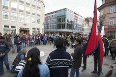 Mahnwache für Erdbebenopfer von Nepal in Göttingen