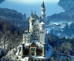 Neuschwanstein in Schwangau, Bavaria: Walt Disney's inspiration for the Disney castle. One can avoid the long, steep climb by taking a carriage. The palace is beautiful, although some areas were left unfinished.  #travel, #palace, #neuschwanstein, #schwangau, #bavaria, #germany
