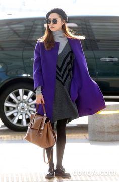 Gong Hyo Jin's airport fashion