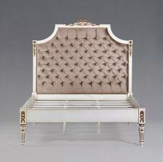 Casa Padrino Luxus Barock Bett Antik Weiß Gold - Louis XIV Französisches Luxus Bett – Bild Louis Xiv, Creme Und Gold, Design, Diva, Home, Antique Beds, French Bed, Luxury, Handmade