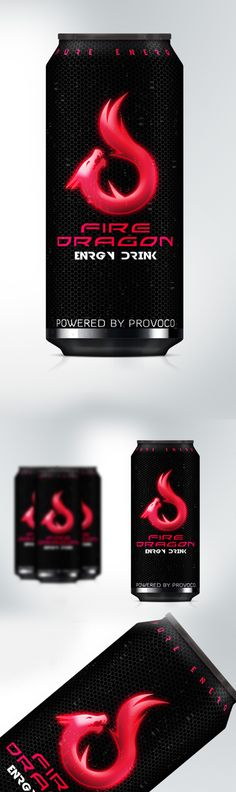 ENERGY DRINK CAN - PACKAGING DESIGN STUDY by Provoco , via Behance