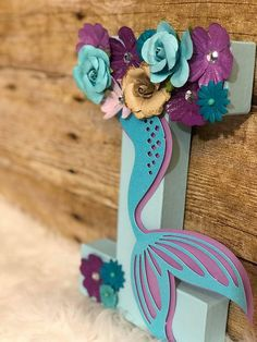Dream Big Little Mermaid! Make your little girls dreams come true with these adorable, sparkly personalized mermaid letters! This listing is for hand painted/embellished letters which can spell out your childs name, age or whatever you like! These are perfect for photo props for