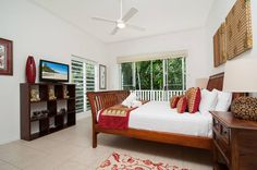 Pool and deck: Villa 5 at Beach Villas in Port Douglas