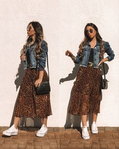 Apostolic Fashion, Modest Fashion, Skirt Fashion, Fashion Outfits, Womens Fashion, Mode Outfits, Stylish Outfits, Skirt And Sneakers, Outfit Jeans