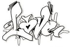 Graffiti Alphabet Styles, Graffiti Lettering Alphabet, Tattoo Lettering Fonts, Graffiti Drawing, Pencil Art Drawings, Street Art Graffiti, Graffiti Artists, Love Coloring Pages, Free Adult Coloring Pages