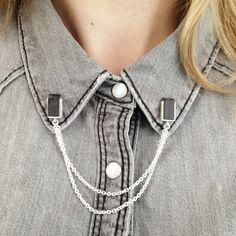 Slate collar pins // KYST
