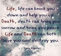 Quotes About Dying Dying Wonders Quote Speak Quote Courage Quote  Dying Wonders .