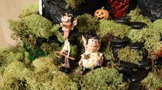 halloween miniature garden, gardening, halloween decorations, repurposing upcycling, seasonal holiday decor