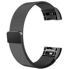 """Large Bands for Fitbit Charge 2 Replacement Whole Strong Magnetic Milanese Metal Wristbands for Fitbit Charge 2 Heart Rate Fitness (6.1"""" - 9.9"""" Women/Men) *** You can get more details by clicking on the image. (This is an affiliate link and I receive a commission for the sales) #WellnessRelaxation"""