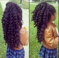 Natural hair. This why I will NEVER put chemicals in my future daughters hair!!