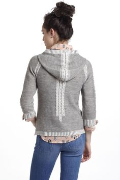 Plaited Cable Hooded Sweater