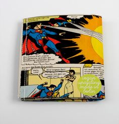 Superman Comic Portemonnaie vegan upcycling wallet von Hunkepunk