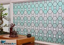privacy window film geometric decorative stained glass 36
